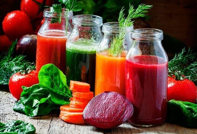 Овощи и соки при гастрите