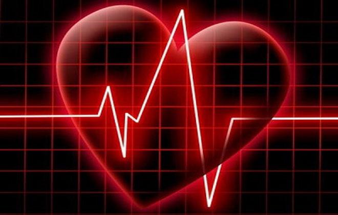 Кардиограмма с сердцем