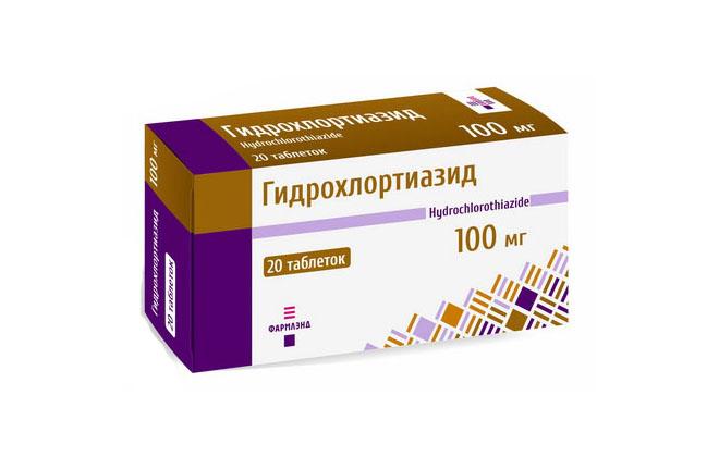 Гидрохлортиазид упаковка