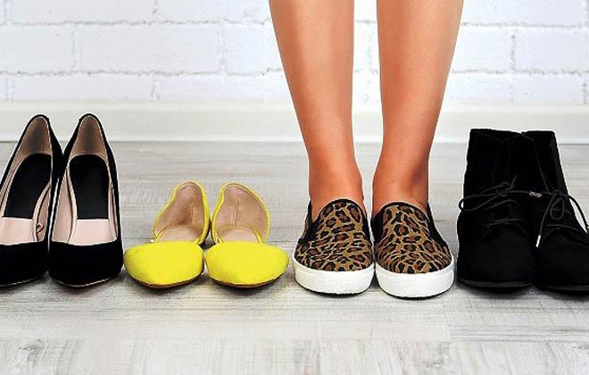 Ношение удобной обуви
