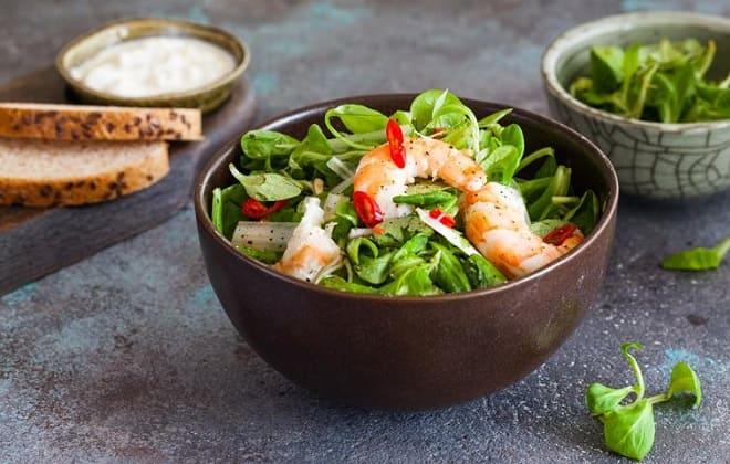 Овощной морской салат