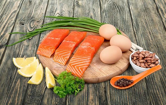 Рыба и яйца