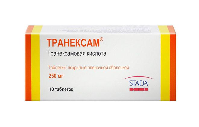 Транексам в таблетках от крови