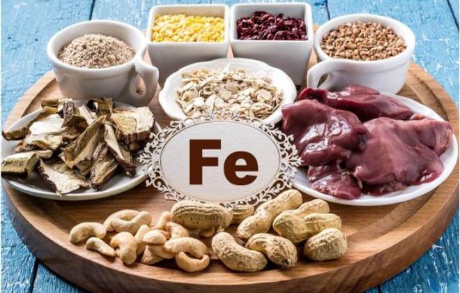 Железо вместе с пищей