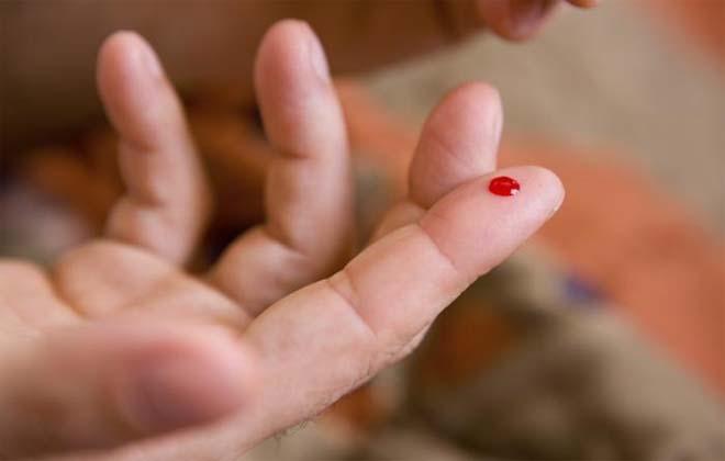 Кровь на пальце
