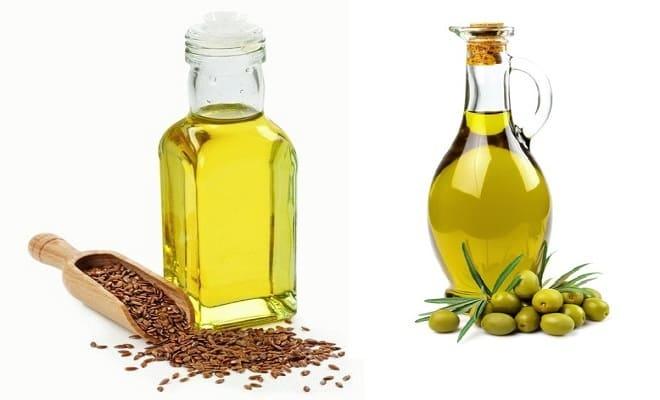 Льняное и оливковое масло