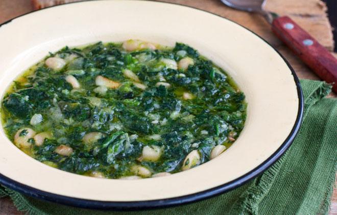 Фасоль и шпинат