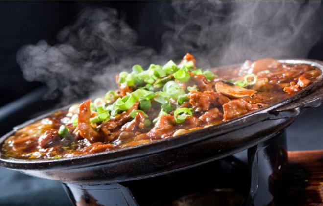 Горячая еда на языке