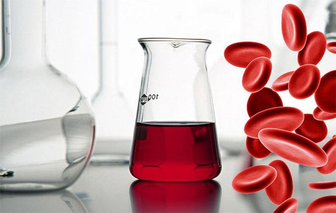 Кровь в жидкости