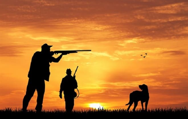 Охотники на закате