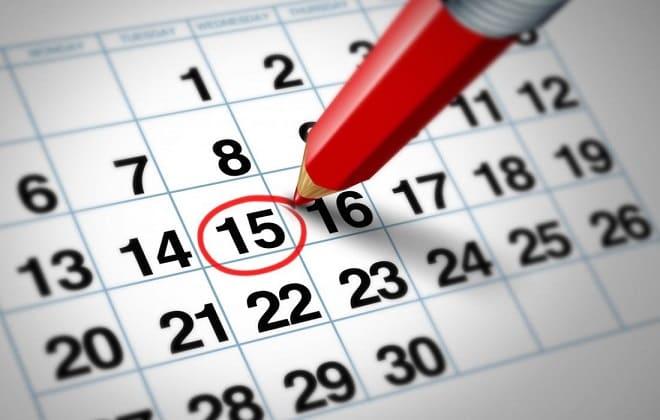 Календарь сдачи анализов